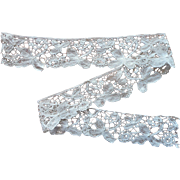 Antique Duchesse Lace Length Fragment Handmade
