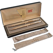 Cross Sterling Silver Pen Pencil Set Original Box Flannel Bags Ladies