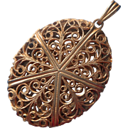 Vintage Filigree Locket Pendant