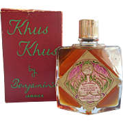 Vintage Khus Khus Perfume 2 Ounce Oz Benjamin's Full Unused Original Box