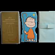 Vintage Oversized Peanuts Linus Christmas Cards Hallmark Standup 13 In Box