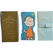 Vintage Oversized Peanuts Linus Christmas Cards Hallmark Standup 13 In Box