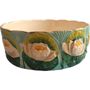 Antique Ferner Majolica Water Lilies Pottery As Is Ferniere Turquoise Green White