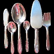 Adam 1917 Antique Silver Serving Pieces Flatware Nut Spoon Dessert Etc