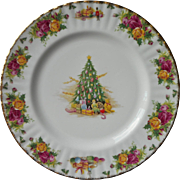 Royal Albert Christmas Magic Dinner Plate Old Country Roses Vintage