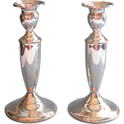 Towle Sterling Silver Vintage Classic Silver Candlesticks Pair