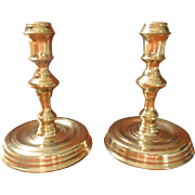 Brass Colonial Williamsburg Candlesticks Vintage CW 16 20 Pair