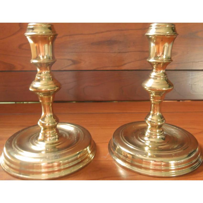 Brass Colonial Williamsburg Candlesticks Vintage CW 16 20 Pair