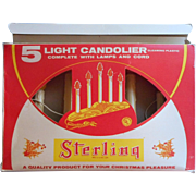 Vintage Candolier 5 Light Original Box Christmas Sterling Brand