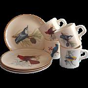 Vintage Song Birds National Widlife Federation Plates Mugs Songbirds Set
