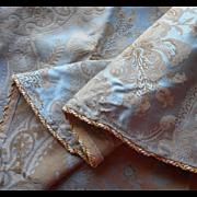 Croscill Napoleon Round Tablecloth Unused French Blue 72 Inch