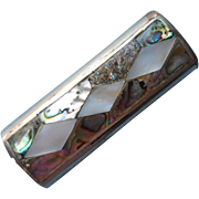 Vintage Lighter Cover Case Alpaca Abalone Mother Of Pearl For Bic