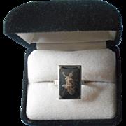 Vintage Niello Sterling Silver Thai Dancer Ring Adjustable