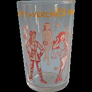 Betty Veronica Archie Comic Juice Glass Vintage Fashion Show