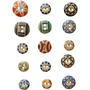 Antique Buttons China Stencil Stencils 15