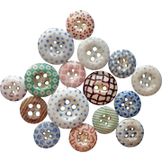 Antique Buttons China Calico 16