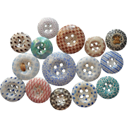 Antique Buttons China Calico 15