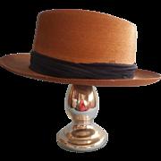Vintage Stetson Medalist Straw Hat Men's Seven Three Eighths