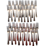 Vintage Luncheon Forks Silver Plated 36 Holiday Buffet Flatware Many Different Patterns