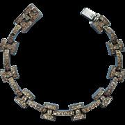 1930s Art Deco Bracelet Rhinestones Vintage Needs Stones