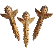 1970s Italian Angel Ornaments Large 3 Angels Christmas