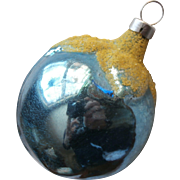 Vintage Christmas Tree Ornament Glass Czechoslovakia Blue Plum Berry Fruit