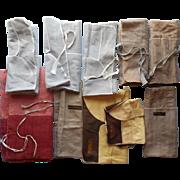 Jeweler's Flannel Storage Rolls For Silver Flatware Vintage