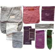Jeweler's Flannel Storage Pouches For Silver Vintage