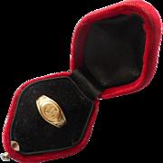 Monogram G 14K Antique Yellow Gold Pinkie Ring TLC