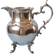 Water Pitcher Silver On Copper Vintage Birmingham