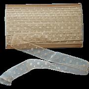 Antique Lace Insertion Yardage Square Dots 8 Plus Yards Unused