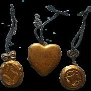 Vintage Christmas Tree Ornaments Oversized Brass Locket Lockets