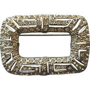 1930s Pin Art Deco Vintage Rhinestone Buckle Form