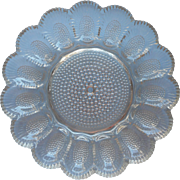 Egg Plate Vintage Indiana Glass Classic Hobnail