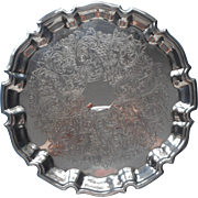 Towle Chippendale Rim Vintage Small Silver Plated Tray