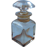 Baccarat Perfume Bottle Vintage Signed French Cut Glass
