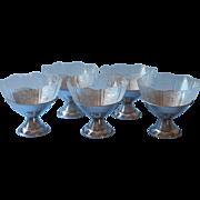 American Sweetheart Ice Cream Dishes Glass Metal Vintage Macbeth Evans