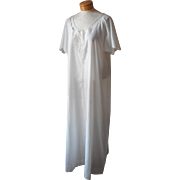 Antique Nightgown L Italian Wedding Entirely Hand Sewn Embroidered Unused
