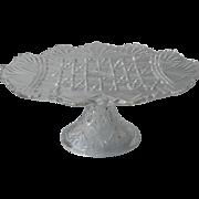 Antique Cake Pedestal Stand EAPG Pressed Glass