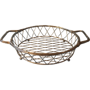 Wire Woven Frame For Baking Dish Vintage Serving