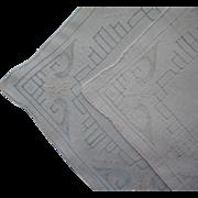 Vintage Hankies Hankie Pair Linen Unused Drawnwork Hand Embroidery