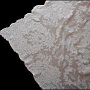 Alencon Lace Tablecloth Vintage 1950s 124 x 71 TLC