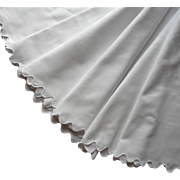 Round Damask Tablecloth Antique 63 Inch ca 1900 to 1920