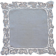 Tape Lace Square Tray Doily Vintage Linen Small