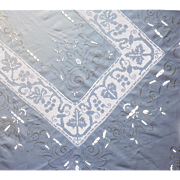 1920s to 1940s Tablecloth Italian Work Embroidery Net Lace TLC