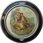 1920s to 1930s Quelques Fleurs Powder Compact Vintage Houbigant French Lovers