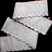 Antique Eyelet Lace Trim Whitework Pillowcase Edging Sewing