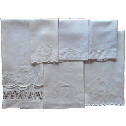 Antique Towels All White Work Hand Embroidery Linen Some TLC