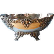 King Francis Reed And Barton Console Centerpiece Bowl Vintage Silver Plated
