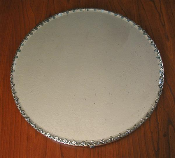 Mirror Plateau Or To Hang Antique Brass Rim